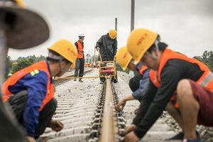 Workers from China Railway No 2 Engineering Group work on a section of the China-Laos railway in Vientiane, Laos, on June 18. Market economies have become passive in their approach to growth, and lack vision, such as that embodied in China's Belt and Road Initiative. Photo: Xinhua